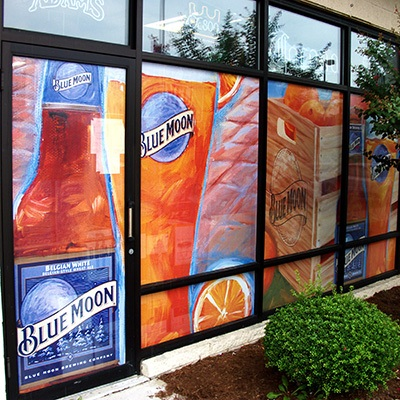One of our perforated window graphics in Ohio